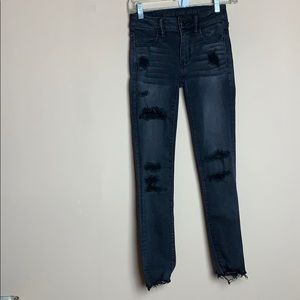 American Eagle AEO Destroyed Distressed Jegging